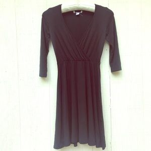 Express MD Blk Sweetheart wrap cotton mini dress